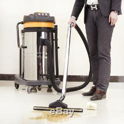 80L 3600W Stainless Steel Powerful Wet & Dry Vacuum Vac Cleaner Home Industrial