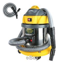 AUTOOL Car Wet Dry Vacuum Cleaner 15L 5.5 Peak HP 12V 1000W Stainless Steel