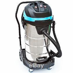 BAUTEC Industrial Vacuum Cleaner Wet&Dry 100L 3400W / Commercial Vacuum Cleaner