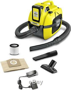 Brand New Karcher WD1 Cordless Wet & Dry Vacuum Cleaner compact battery set, 18v