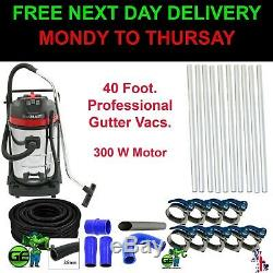 Commercial Wet & Dry Vacuum Gutter Cleaning Machine (12M-40FT) Pole. 20M Hose