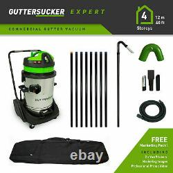 Commercial Wet and Dry Gutter Cleaning Vacuum 8 Pole Package (12m/40ft)