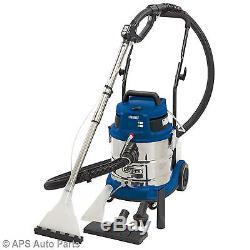 Draper 75442 Wet Dry Shampoo Vacuum 20L Litre 1500w Car Carpet Valeting Cleaner