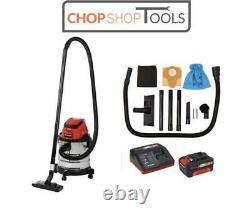 Einhell Power-X-Change Cordless Wet & Dry Vacuum Cleaner 18v 1 x 3.0Ah EINTEVC18