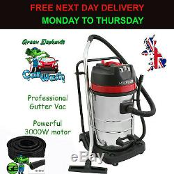 Gutter Cleaning Vacuum with + 5M Universal Hose Flexible Pipe 51mm Car Wash Vac