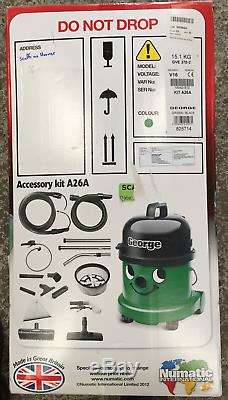 Henry George Wet & Dry Vacuum 15L Green GVE 370-2 + Extension Kit A26A 240V z