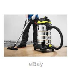 Industrial Vacuum Cleaner Wet & Dry Vacuum Shop Vac With Power Socket 1400W 30L