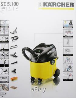 Karcher Se 5.100 Carpet Washer Shampoo, Wet & Dry Vacuum Cleaner 1.081-200.0