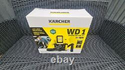Kärcher WD1 Cordless Wet & Dry Vacuum Cleaner with battery. New