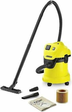 Karcher WD 3 P Yellow Wet/Dry Vacuum Cleaner