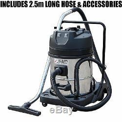Kiam Gutter Cleaning System KV60-2 Wet & Dry Vacuum Cleaner & 28ft 8.4m Pole Kit