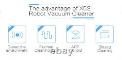 LIECTROUX Robot Vacuum Cleaner X5S with WIFI APP Control Wet Dry Mop