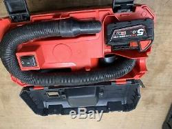 Milwaukee new M18VC2 18v Vacuum 2nd Generation Bare Unit + 5.0ah Battery T469