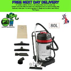 NEW 80L Industrial Vacuum Cleaner Wet and Dry Car Wash Kit 6pc Free Kit 3000W
