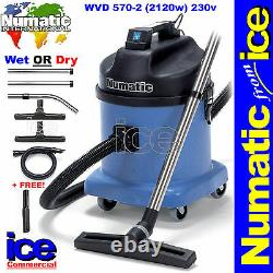 Numatic WVD570-2 Wet / Dry Two Motor Commercial Car Wash Valeting Vacuum Cleaner