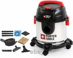 Porter Cable Wet & Dry Vacuum Cleaner 19L, 1.5m Hose PCX19406-5B, Black