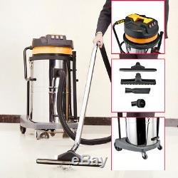 Powerful Wet And Dry Vacuum Vac Cleaner Industrial 80ltr 3600w Stainless Steel