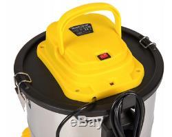 Powermat Vacuum Cleaner Industrial Wet Dry Hoover Steel Commercial Ash Removal