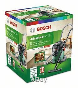 STOCK0 BOSCH Advanced VAC20 AllPurpose VACUUM CLEANER 06033D1270 3165140874014D2