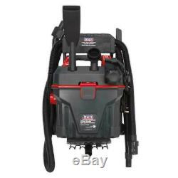 Sealey Garage Wet & Dry Vacuum Cleaner 1500W with Remote Control Wall Mounting