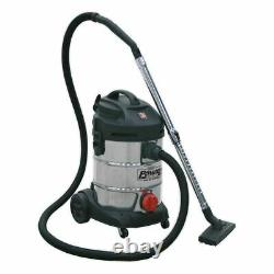 Sealey PC300SD Vacuum Cleaner Industrial 30ltr 1400With230V Stainless Bin