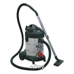 Sealey Vacuum Cleaner Industrial 30ltr 1400With230V Stainless Drum PC300SD
