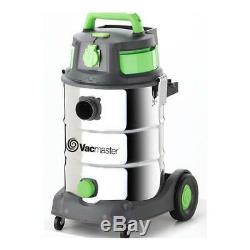 Vacmaster Wet / Dry Industrial Vacuum 30 litre 1500w Stainless Drum Sync Funct