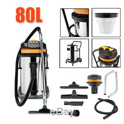 Vacuum VAC Cleaner Wet Dry Industrial Commercial Powerful Stainless Steel 30 80L