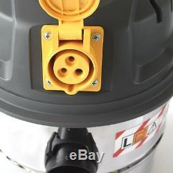 110v Aspirateur 30l Wet & Dry L Classe Industrielle Poussière Extracteur W. Prise De Force 110v