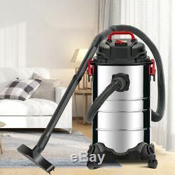 1200w 30l 4-en-1 Wet & Dry Aspirateur Aspirateur En Acier Inoxydable Réservoir