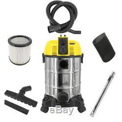 30l 1600w Wet Dry Aspirateur 2 En 1 Aspirateur-souffleur Avec Électricité Intégré Socket