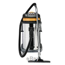 Aspirateur Industriel Wet & Dry Vac Commercial En Acier Inoxydable 80l 3600w