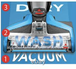 Bissell Crosswave All In One Multi Surface Wet & Dry Cleaner Blue Grey