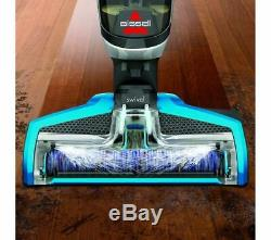 Bissell Crosswave Vertical Wet & Dry Aspirateur Titane Et Bleu Endommagé Box