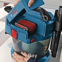 Bosch Gaz 18 V-10 L 18v Sans Fil Au Mouillé Et À Sec Aspirateur Batteries Aucun