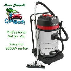 Commercial Wet & Dry Vacuum Gutter Cleaning System (12m-40ft) Pôle. Tuyau De 10ml