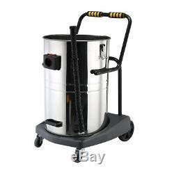 Décapant Humide Et Sec Puissant Industriel D'acier Inoxydable De 80ltr 3600w D'aspirateur