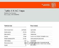 Fein Turbo II X Ac Hepa Aspirateur Avec Nettoyage Automatique Du Filtre, Humide/sec