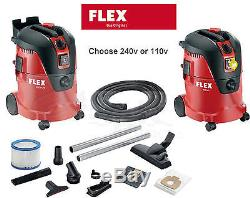 Flex 25ltr 110v / 240v Aspirateur Aspirateur / Aspirateur Sec / Humide + Kit D'accessoires Vce 26 L MC