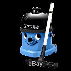 Henry Charles Numatic Cvc370 Humide Et Aspirateur Sec 15l Bleu + A21 230v Uk