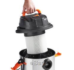 Industrial Humide Aspirateur À Sec Puissant Portable Hoover Commercial Acier 30l