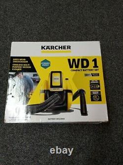 Kärcher Wd1 Nettoyeur À Vide Sans Fil Et À Sec Avec Batterie. Nouveau