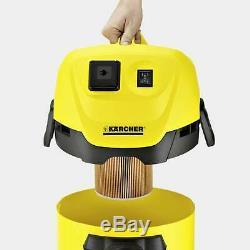 Karcher Wd3p Aspirateur Pour Déchets Secs Et Humides D'une Capacité De 17 Litres En Jaune