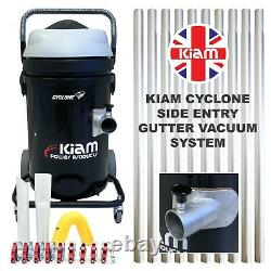 Kiam Cyclone P Gutter Wet Dry Vacuum Cleaner & 40ft 12m Pole Kit Cleaning System