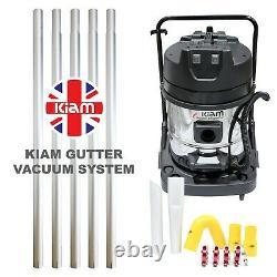 Kiam Gutter Cleaning Kv60-2 Nettoyeur À Vide Humide Et Sec Et Kit À Poteau De 6m 20ft