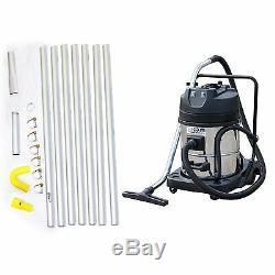 Kiam Gutter Cleaning System Kv60-2, Aspirateur Pour Déchets Secs Et Humides Et Kit De Perche De 28 Pi, 8,4 M