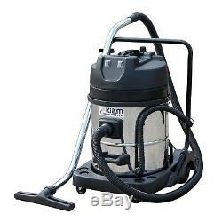 Kiam Gutter Cleaning System Kv60-2, Aspirateur Pour Déchets Secs Et Humides Et Kit De Perche De 32 Pi, 9,6 M