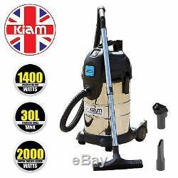 Kiam Kv30pt Industrial 30l 1400w Wet & Dry Aspirateur 2000w Puissance Take Off
