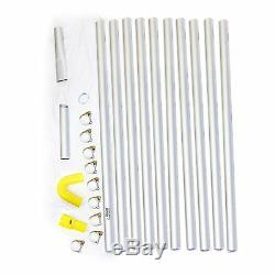 Kit D'aspirateur Pour Déchets Secs Et Humides Kv80 De Kiam Gutter Cleaning & Kit De Perche De 12 M (40 Pi)