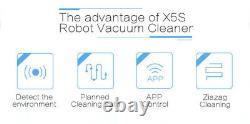 Liectroux Robot Aspirateur X5s Avec Wifi App Contrôle Mop À Sec